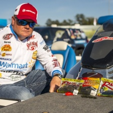 Mark shows off the baits he used at Sam Rayburn